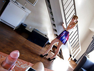 Beautiful teen babysitter Iggy Amore gets her tight snatch pounded